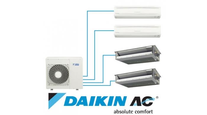 Hệ thống điều hòa multi daikin kết nối 4 dàn lạnh